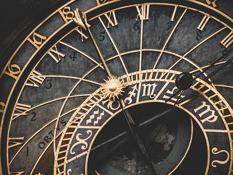 Timepiece with strange symbols