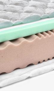 Memory foam - latex mattress cross section
