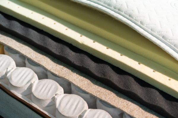 Mattress filler. Coconut coir, Nature para latex rubber, memory foam independent spring.