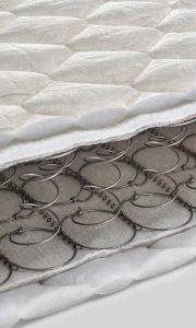 Open spring and foam - latex bonnell mattress cross section