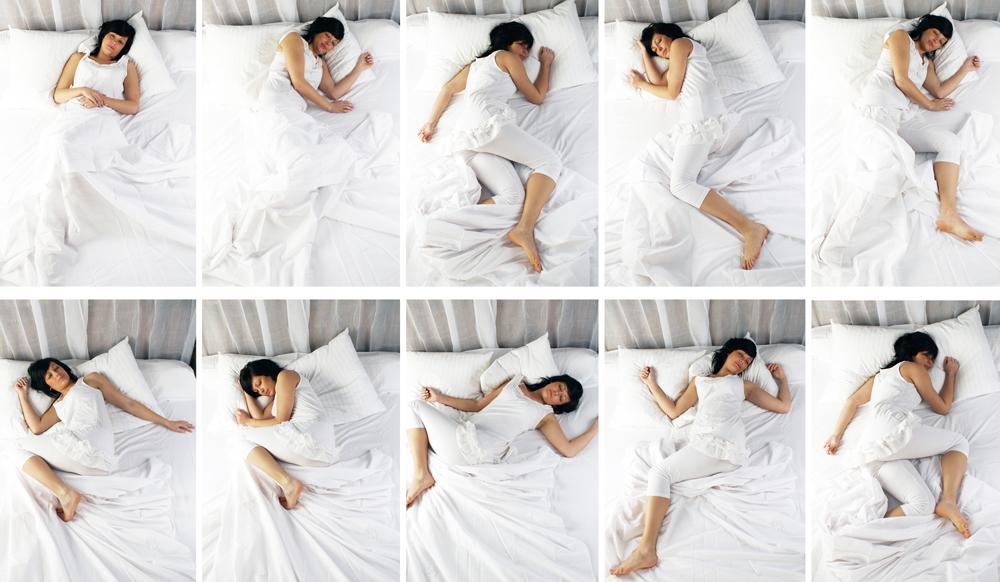 series of woman in various sleeping poses
